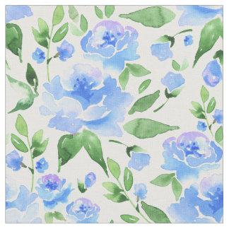 Tela Flores del azul de la acuarela