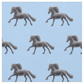 Tela frisia negra del caballo