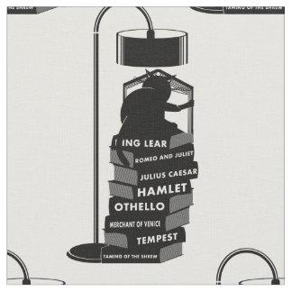 Tela Gato negro que lee los juegos de Shakespeare