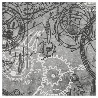 Tela Gris del collage del mecanismo