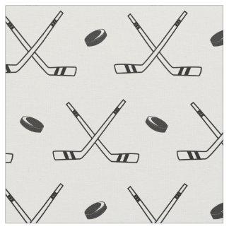 Tela Hockey x en blanco y negro