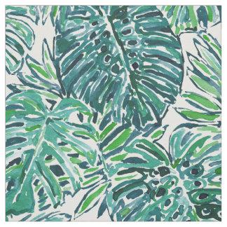 Tela Hojas tropicales de Monstera del verde de la