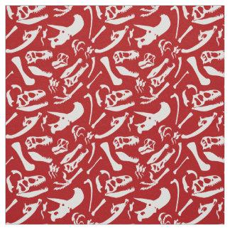 Tela Huesos de dinosaurio (rojos)