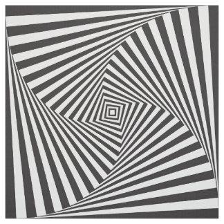 Tela Ilusión óptica espiral blanca negra hermosa