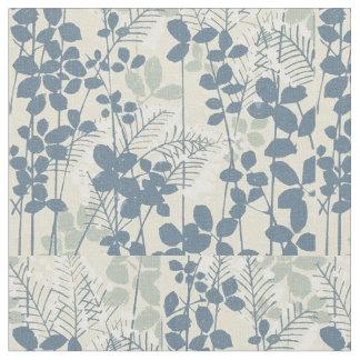 Tela Impresión azul floral de las flores del arte