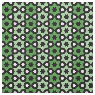 Tela Impresión blanco y negro verde del modelo de la