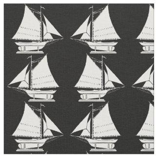 Tela impresión de la silueta del velero