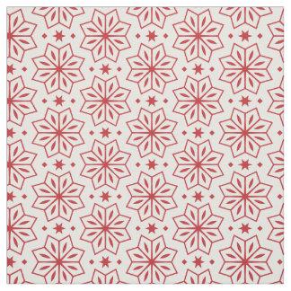 Tela Impresión del modelo de estrella de la flor roja y