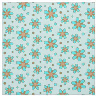 Tela Impresión floral linda de la flor de Brown de