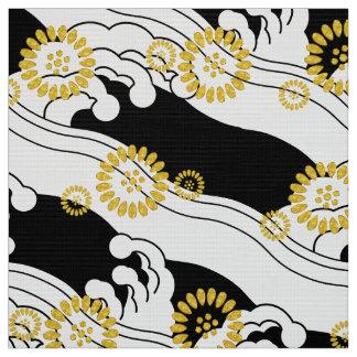 Tela japonesa del modelo del kimono