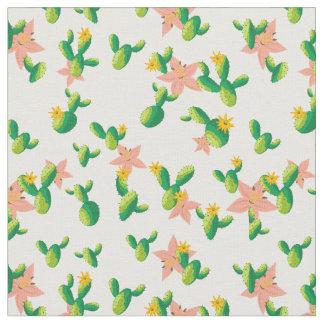 Tela La acuarela preciosa linda florece el cactus