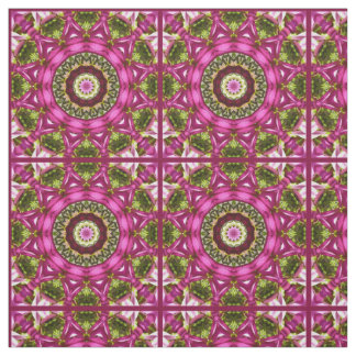 Tela La primavera florece, pica, Flor-Mandala,