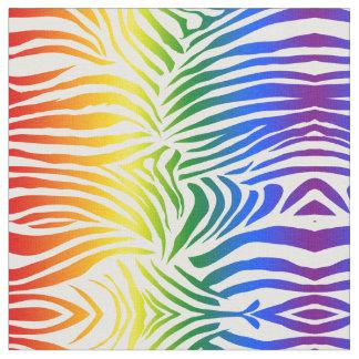 Tela LGBT intrépido y brillante del estampado de zebra