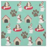 Tela linda de los beagles