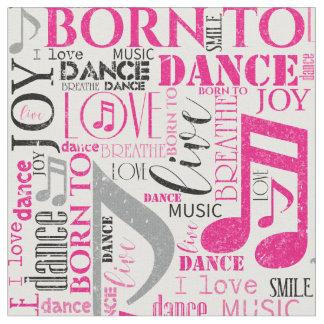 Tela Llevado bailar ID277 rosado/negro