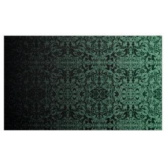Tela LOPc verde/negro del damasco de Ombre