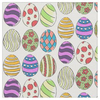 Tela Los diseños enrrollados teñieron los huevos de