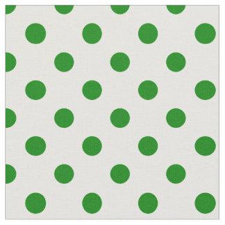 Tela Lunares grandes - verde en blanco