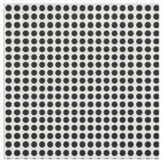 Tela Lunares negros en un fondo blanco