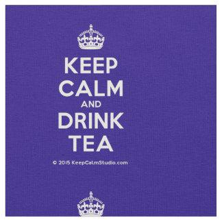 Tela Mantenga té tranquilo y de la bebida