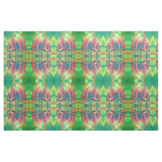 Tela Mar del verde con desperdicios abstractos cubistas