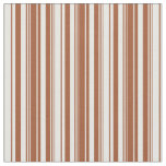 Tela Mint Cream and Sienna Stripes Pattern