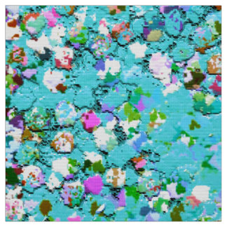 Tela Moda #7 de pintura multicolor del purpurina de la