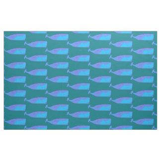 Tela modelo de las ballenas azules