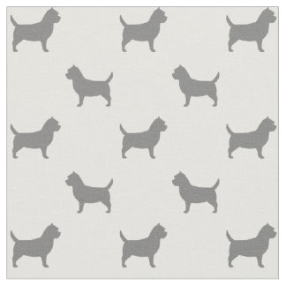 Tela Modelo de las siluetas de Terrier de mojón