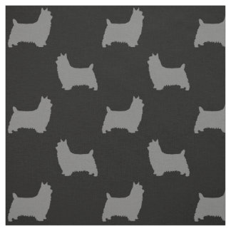 Tela Modelo de las siluetas de Terrier sedoso
