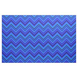 Tela Modelo de zigzag de las rayas azules