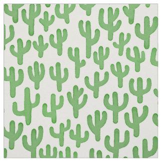 Tela Modelo del cactus del Watercolour - verde