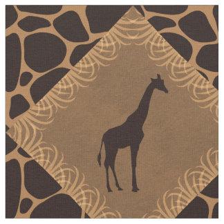 Tela Modelo del diamante de la jirafa y del estampado
