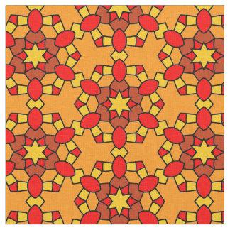 Tela Modelo geométrico del hexágono rojo caliente del
