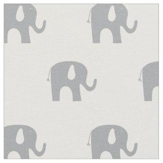 Tela Modelo gris y blanco del elefante moderno