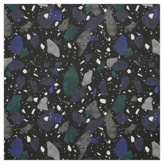 Tela Modelo negro de la materia textil del terrazo del