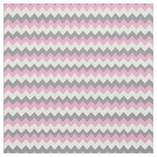 Tela Modelo rosado, blanco y gris de Chevron