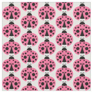 Tela Modelo rosado de la mariquita