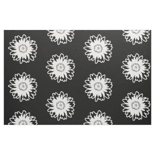 Tela moderna blanco y negro de la flor