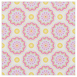 Tela moderna y colorida del estampado de flores de