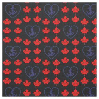 Tela náutica del corazón del ancla de Canadá del