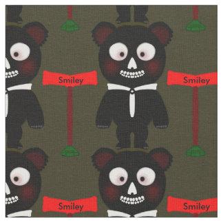 Tela negra linda de Personalizable del oso del
