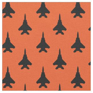 Tela Negro en modelo anaranjado del avión de combate de