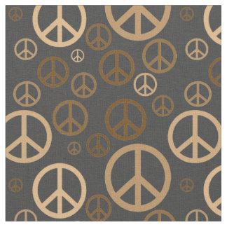 Tela Oro dispersado SPST de los signos de la paz