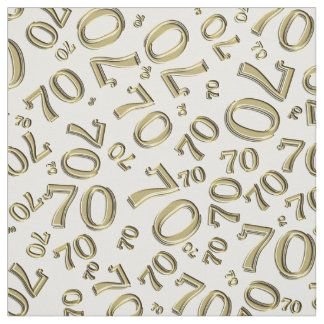 Tela Oro y modelo blanco de la tipografía del número 70