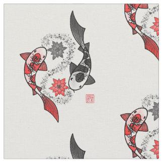 Tela Paño del adorno de Yin Yang de los pescados de Koi