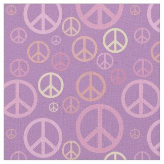 Tela Pasteles dispersados SPST de los signos de la paz