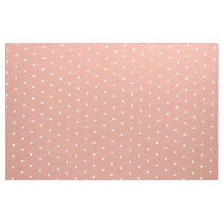 Tela Pequeños lunares blancos en rosa del joyero