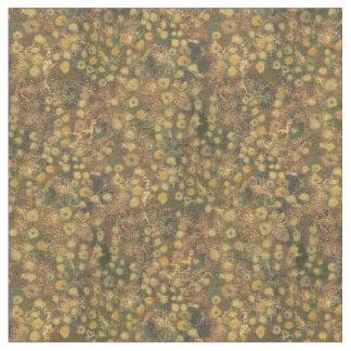 Tela Prado de oro, amarillo abstracto del verde floral,