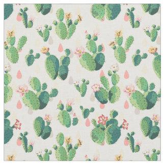 Tela preciosa linda del cactus